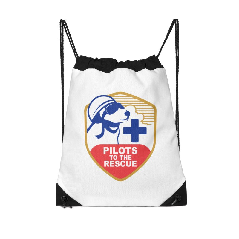 Pilots to the Rescue Accessories Drawstring Bag Bag by PilotsToTheRescue's Artist Shop