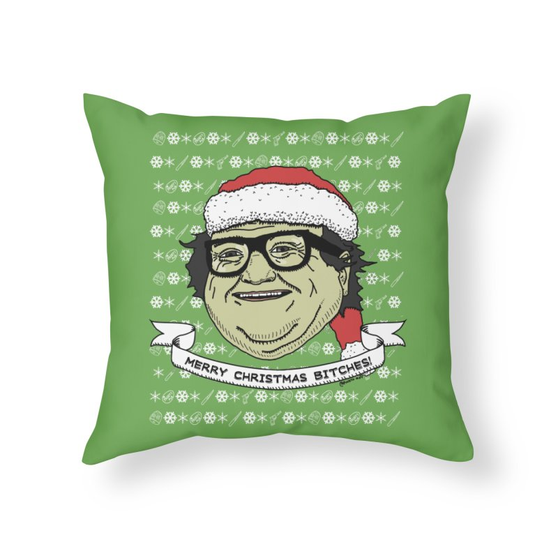 Sunny Christmas Home Throw Pillow by Pinata Riot