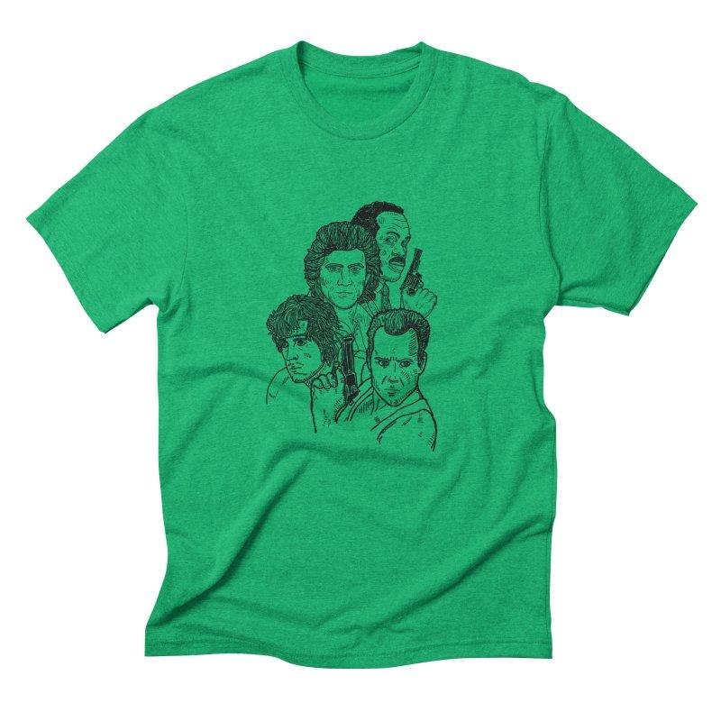 Kickass Christmas Men's Triblend T-Shirt by Pinata Riot