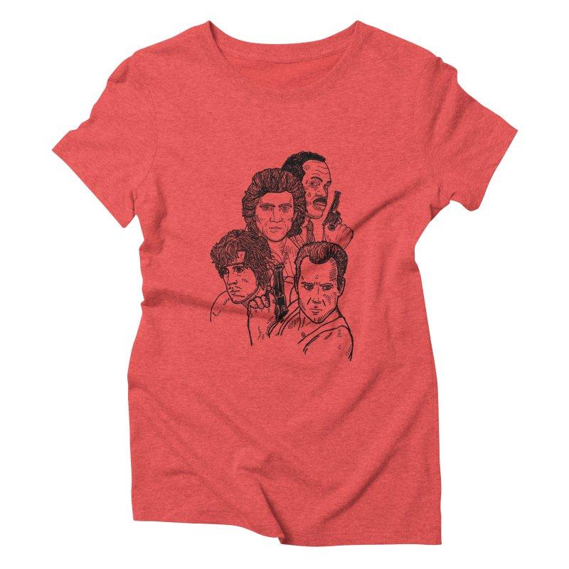 Kickass Christmas Women's Triblend T-Shirt by Pinata Riot