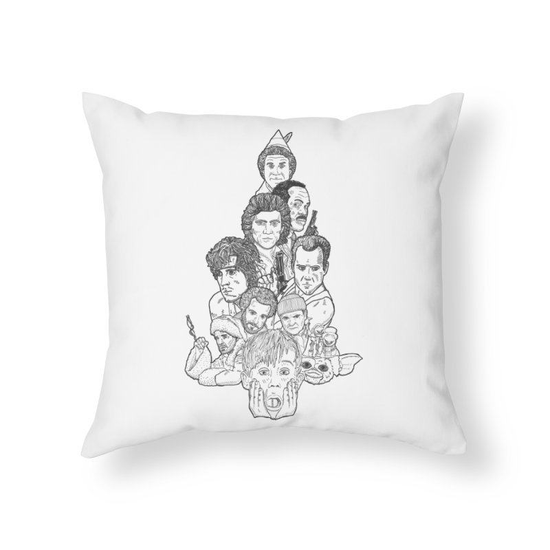 Hollywood Christmas Home Throw Pillow by Pinata Riot