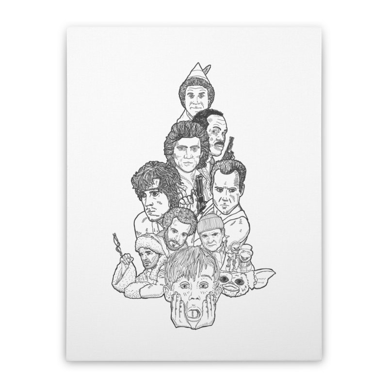 Hollywood Christmas Home Stretched Canvas by Pinata Riot