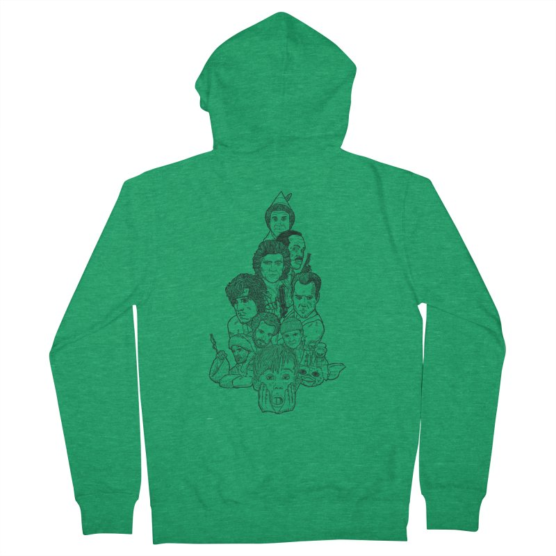 Hollywood Christmas Women's French Terry Zip-Up Hoody by Pinata Riot