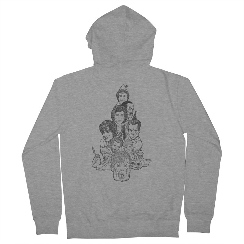 Hollywood Christmas Men's French Terry Zip-Up Hoody by Pinata Riot