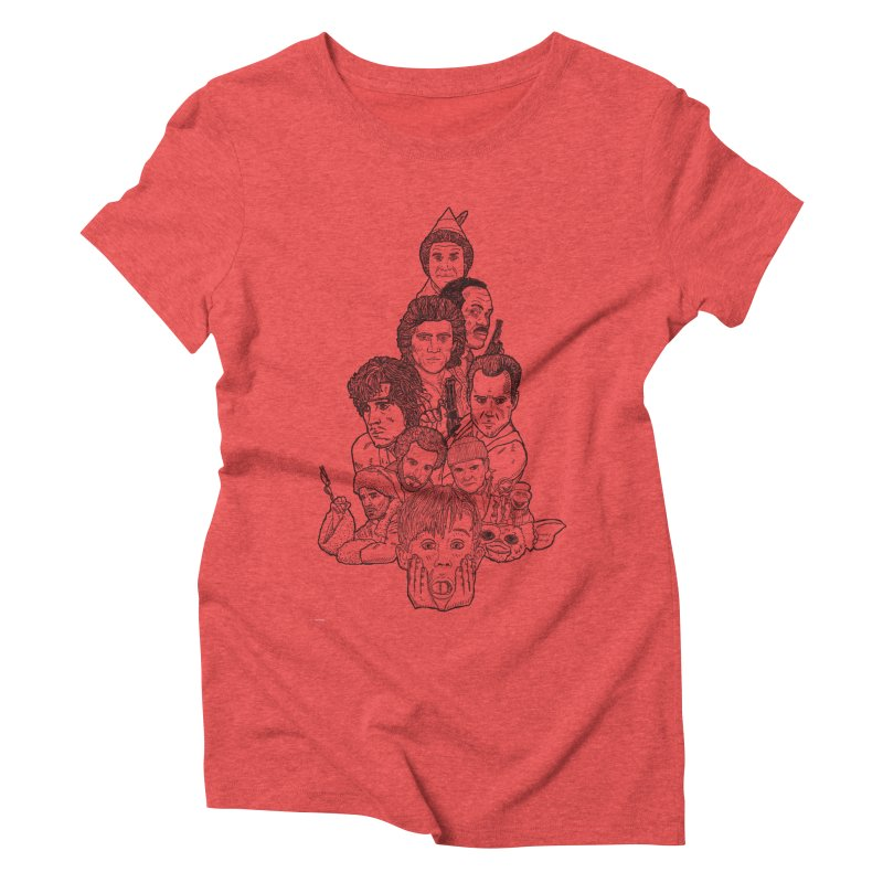 Hollywood Christmas Women's Triblend T-Shirt by Pinata Riot