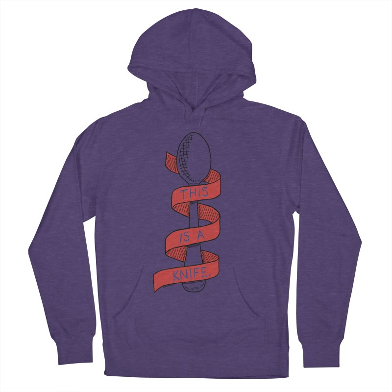 This is a Knife // Red Men's Pullover Hoody by Pinata Riot