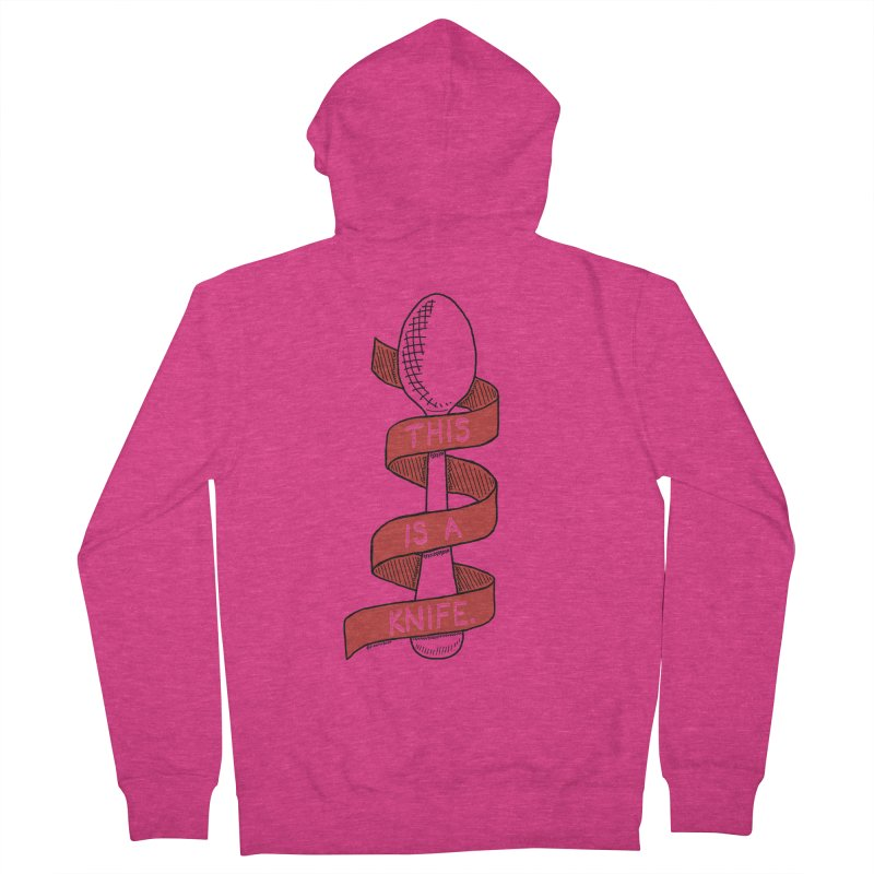 This is a Knife // Red Women's Zip-Up Hoody by Pinata Riot