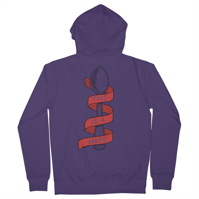 This is a Knife // Red Women's French Terry Zip-Up Hoody by Pinata Riot