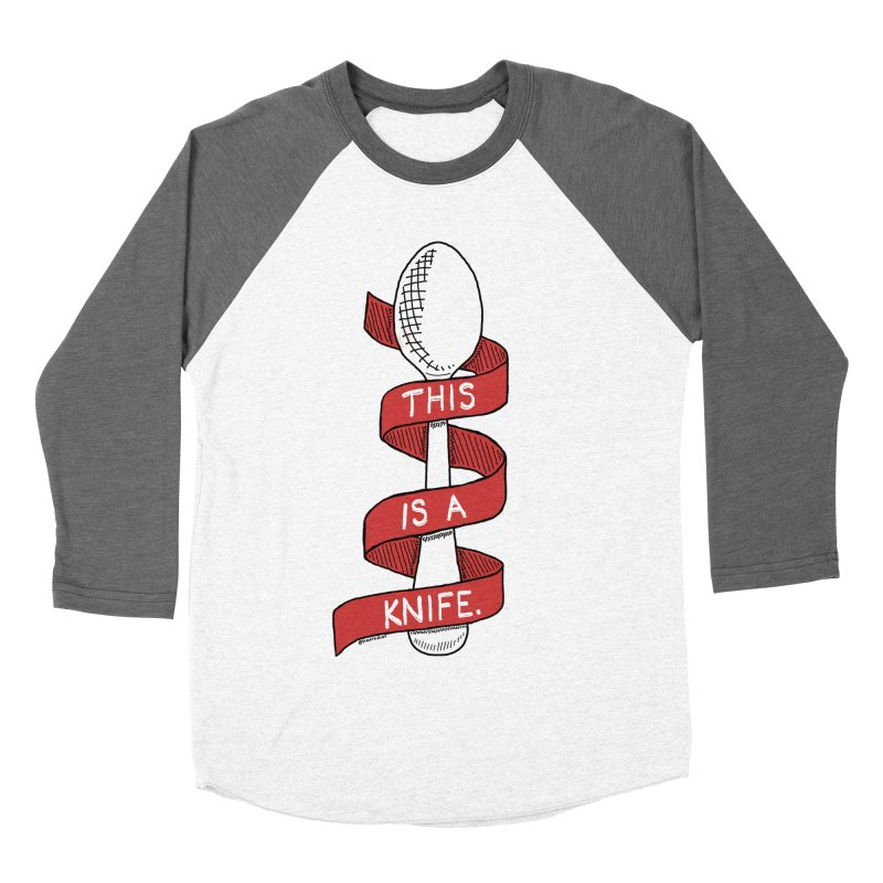 This is a Knife // Red Men's Baseball Triblend T-Shirt by Pinata Riot