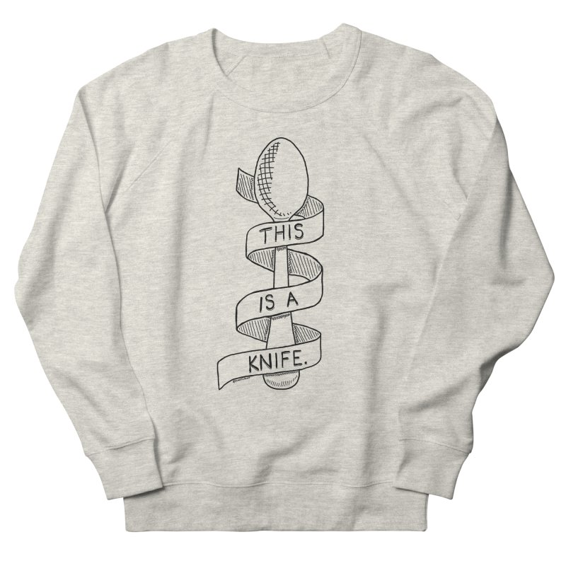 This is a Knife // Black and White Men's Sweatshirt by Pinata Riot
