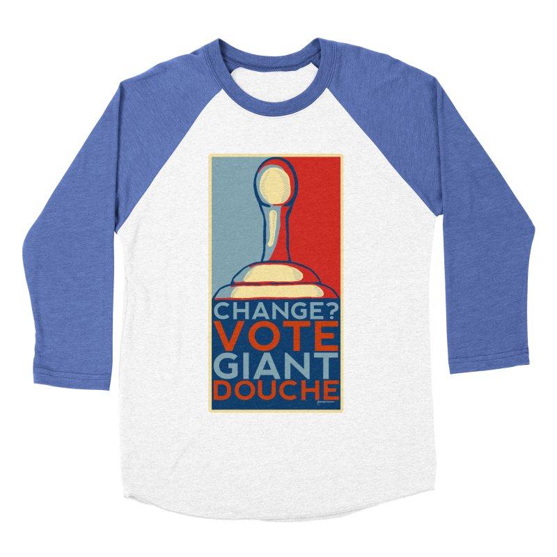 Vote Giant Douche 2016 Men's Baseball Triblend Longsleeve T-Shirt by Pinata Riot