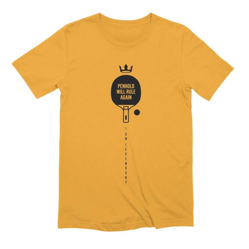 Penhold - I am Legendary Men's Extra Soft T-Shirt by PingSunday's Table Tennis Merchandise.