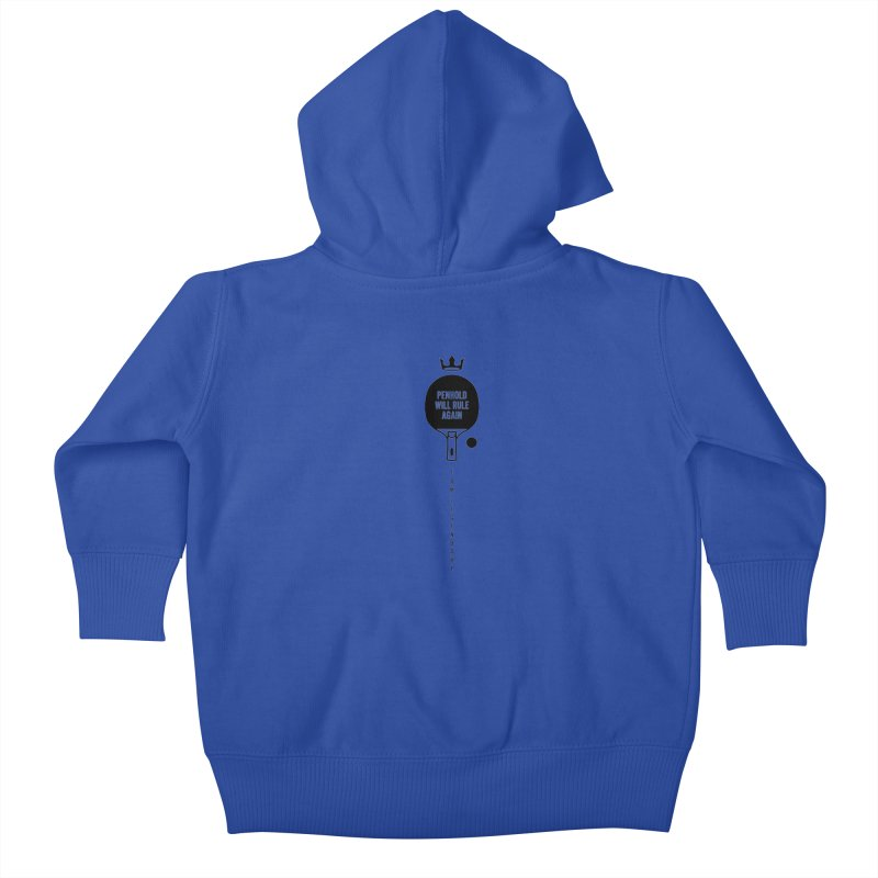 Penhold - I am Legendary Kids Baby Zip-Up Hoody by PingSunday's Table Tennis Merchandise.