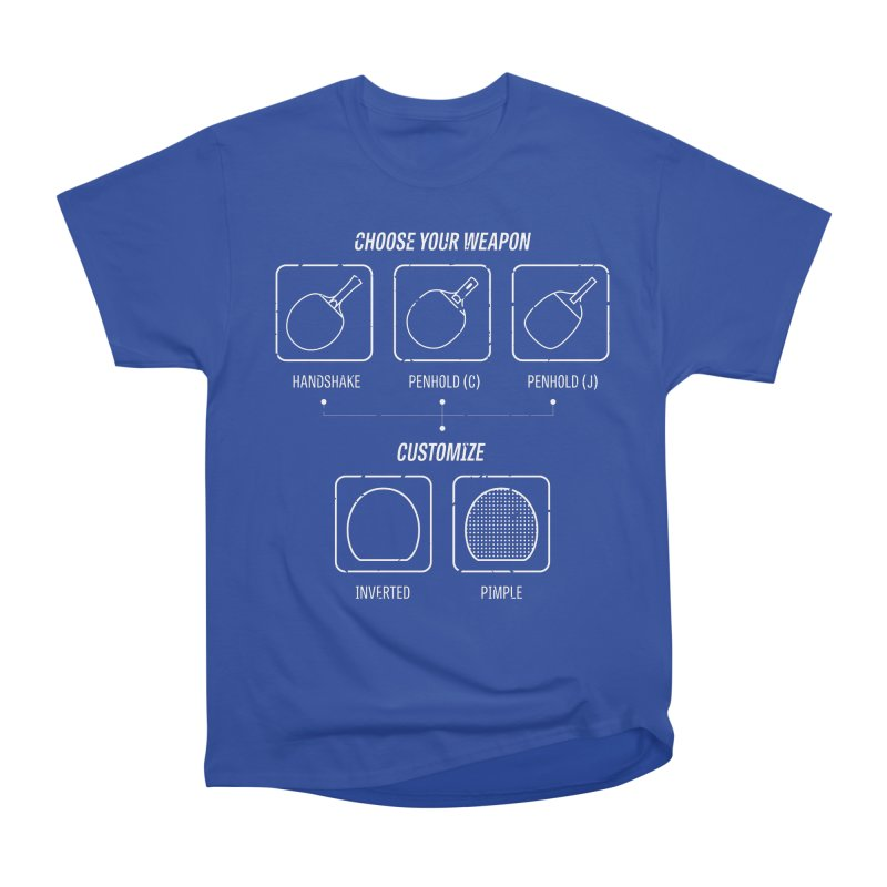 Choose Your Weapon Men's T-Shirt by PingSunday's Table Tennis Merchandise.