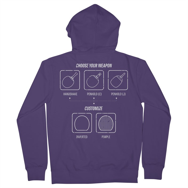 Choose Your Weapon Women's French Terry Zip-Up Hoody by PingSunday's Table Tennis Merchandise.