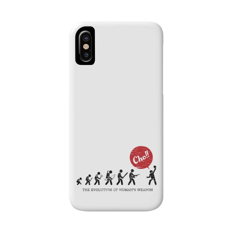 The Evolution of Human's Weapon Accessories Phone Case by PingSunday's Table Tennis Merchandise.