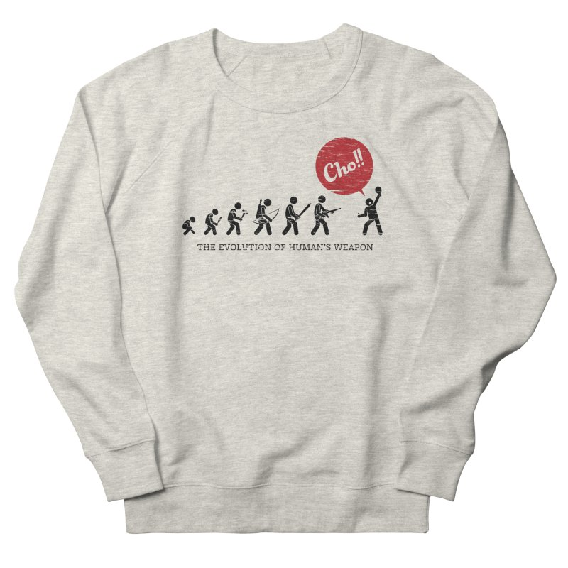 The Evolution of Human's Weapon Women's Sweatshirt by PingSunday's Table Tennis Merchandise.