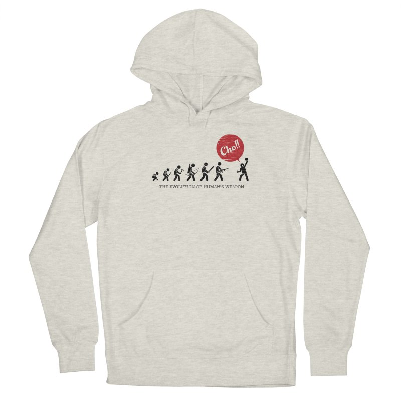 The Evolution of Human's Weapon Men's Pullover Hoody by PingSunday's Table Tennis Merchandise.