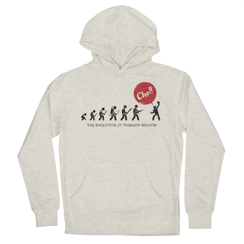 The Evolution of Human's Weapon Women's French Terry Pullover Hoody by PingSunday's Table Tennis Merchandise.