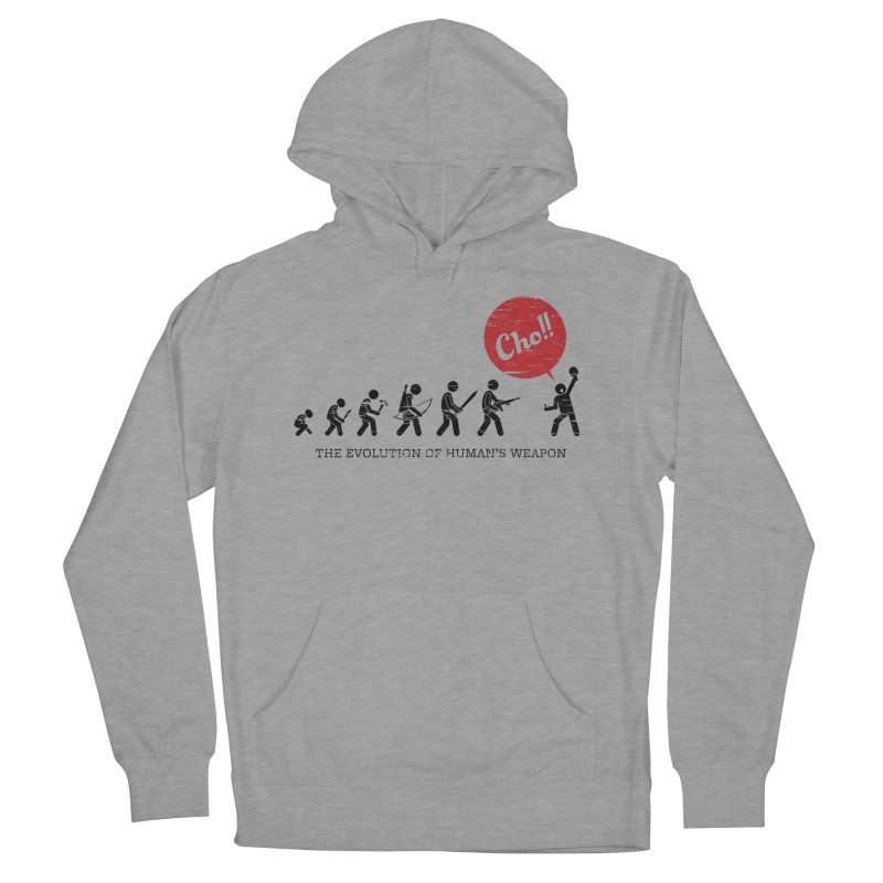 The Evolution of Human's Weapon Men's French Terry Pullover Hoody by PingSunday's Table Tennis Merchandise.