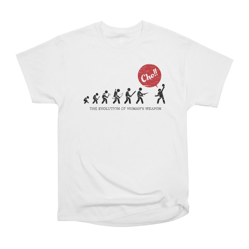 The Evolution of Human's Weapon Men's Heavyweight T-Shirt by PingSunday's Table Tennis Merchandise.