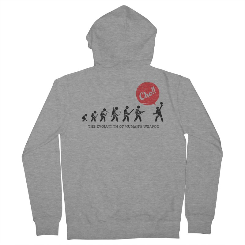 The Evolution of Human's Weapon Women's Zip-Up Hoody by PingSunday's Table Tennis Merchandise.