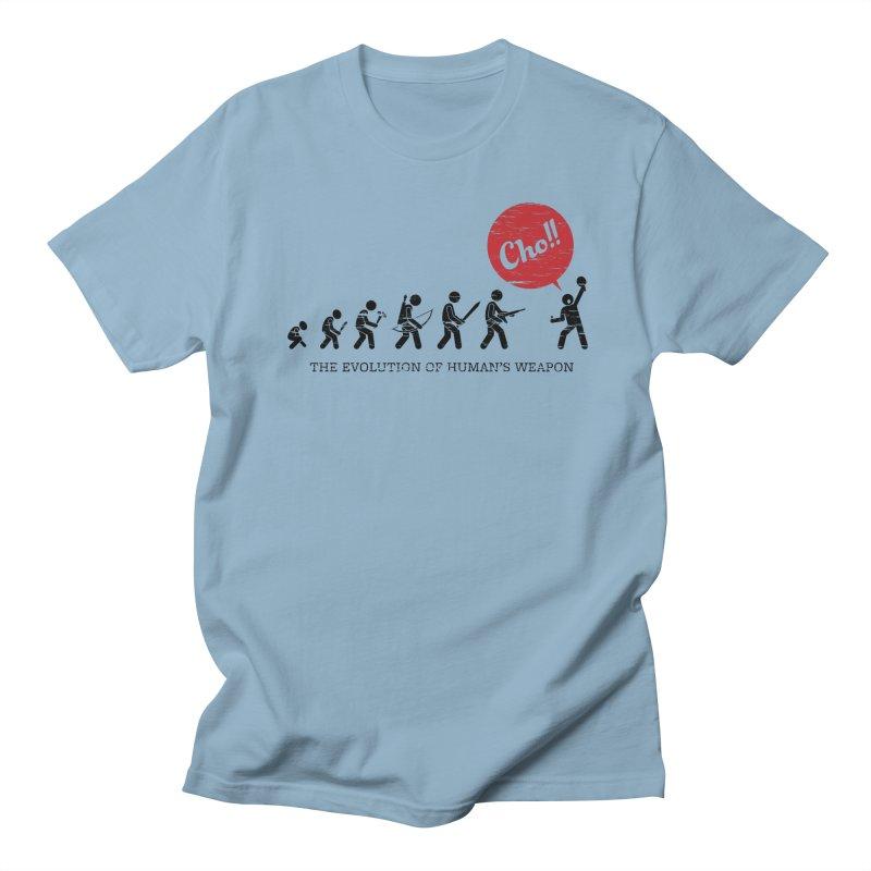The Evolution of Human's Weapon Women's Regular Unisex T-Shirt by PingSunday's Table Tennis Merchandise.