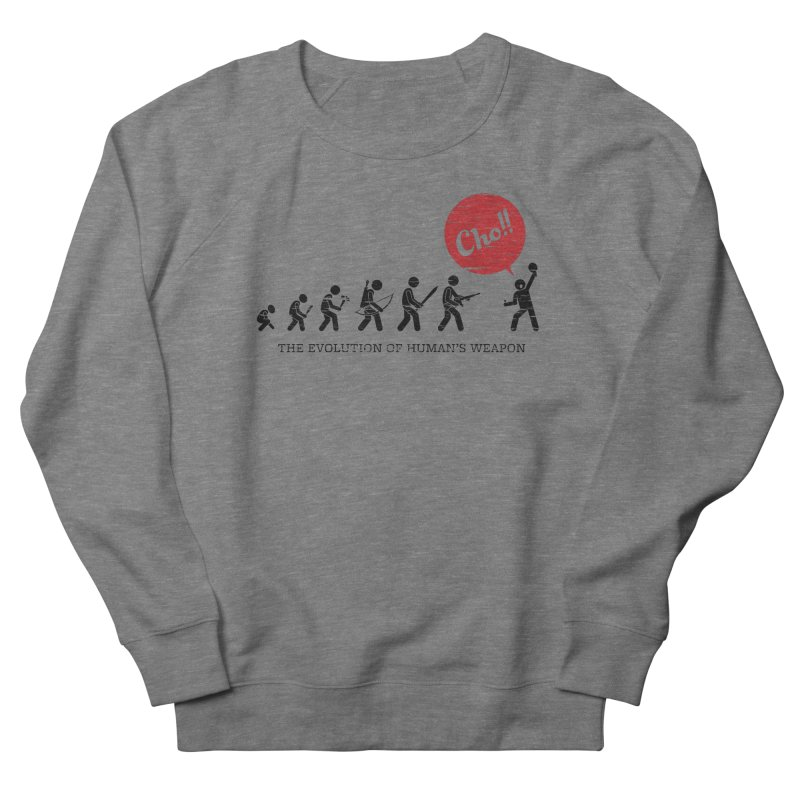 The Evolution of Human's Weapon Women's Sweatshirt by PingSunday's Table Tennis Merchandise.