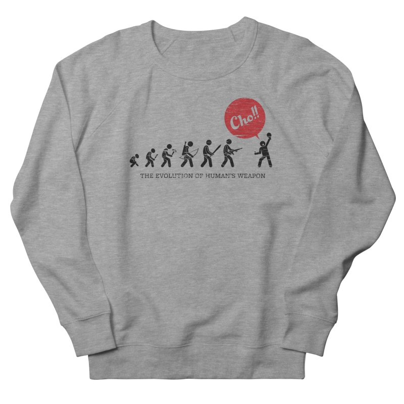The Evolution of Human's Weapon Women's French Terry Sweatshirt by PingSunday's Table Tennis Merchandise.