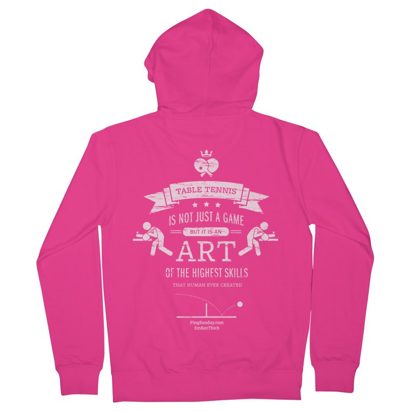 Table Tennis is Not Just a Game Men's French Terry Zip-Up Hoody by PingSunday's Table Tennis Merchandise.