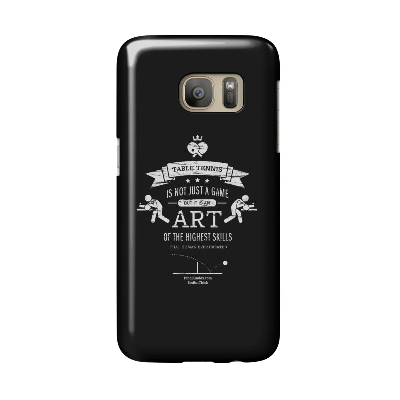 Table Tennis is Not Just a Game Accessories Phone Case by PingSunday's Table Tennis Merchandise.