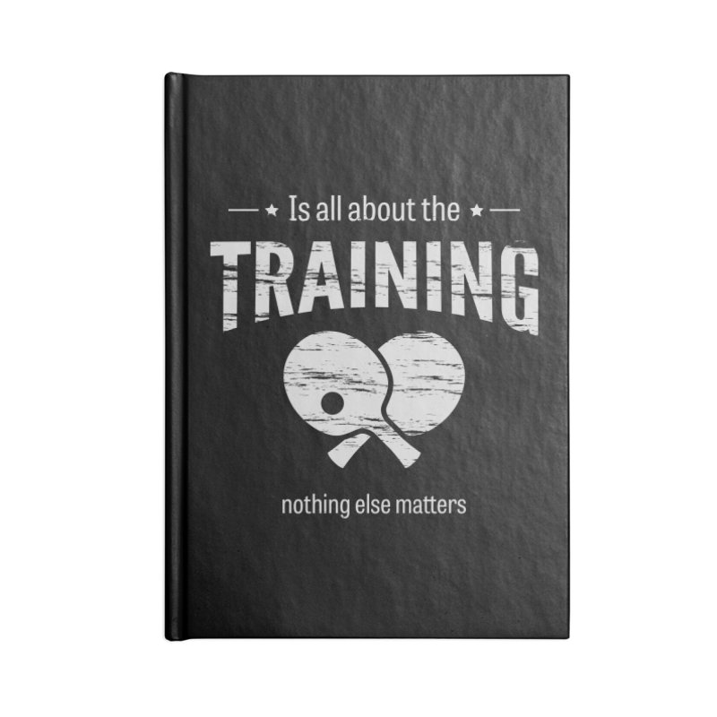 Is All About the Training Accessories Lined Journal Notebook by PingSunday's Table Tennis Merchandise.