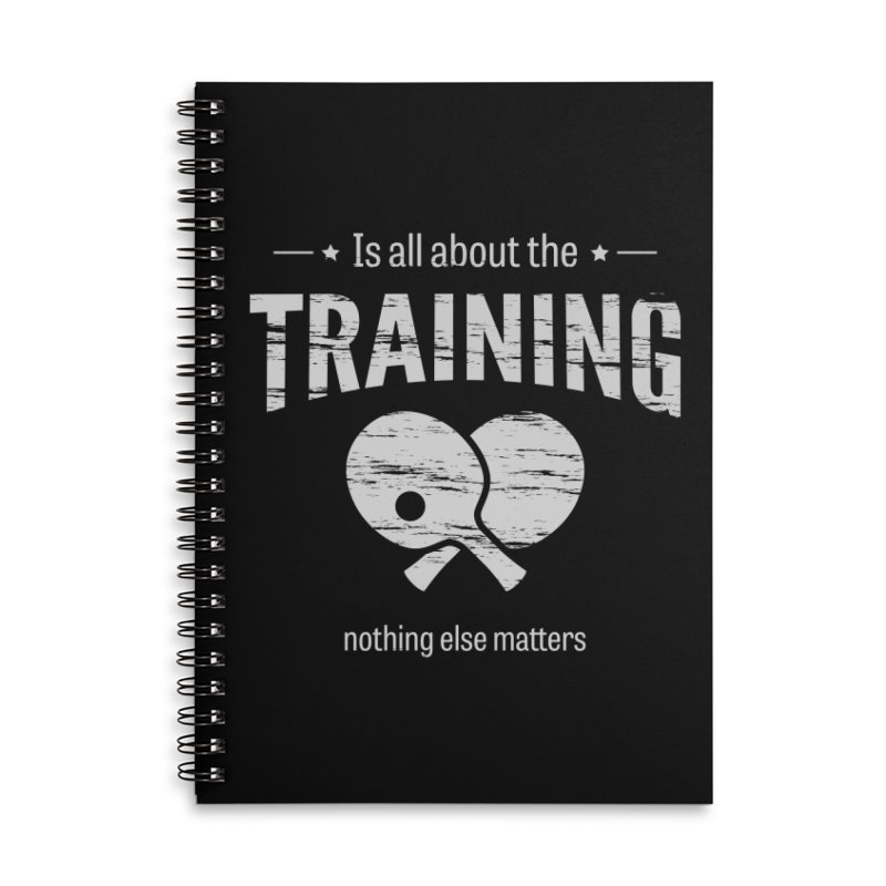 Is All About the Training Accessories Lined Spiral Notebook by PingSunday's Table Tennis Merchandise.