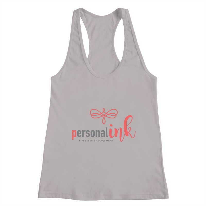 P.ink 2019 New Logo Women's Racerback Tank by P.INK—don't let breast cancer leave the last mark