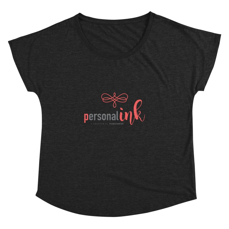 P.ink 2019 New Logo Women's Dolman Scoop Neck by P.INK—don't let breast cancer leave the last mark