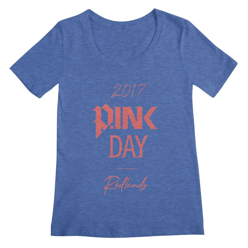 2017 P.ink Day Redlands Women's Scoopneck by P.INK—don't let breast cancer leave the last mark