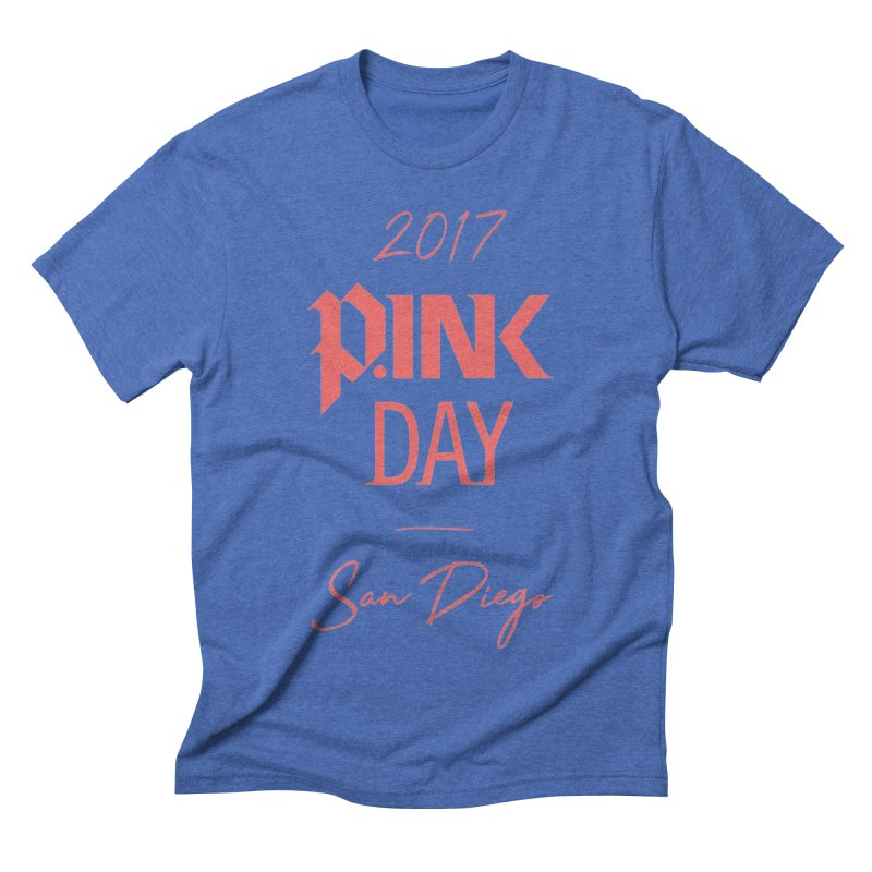2017 P.ink Day San Diego Men's Triblend T-shirt by P.INK—don't let breast cancer leave the last mark