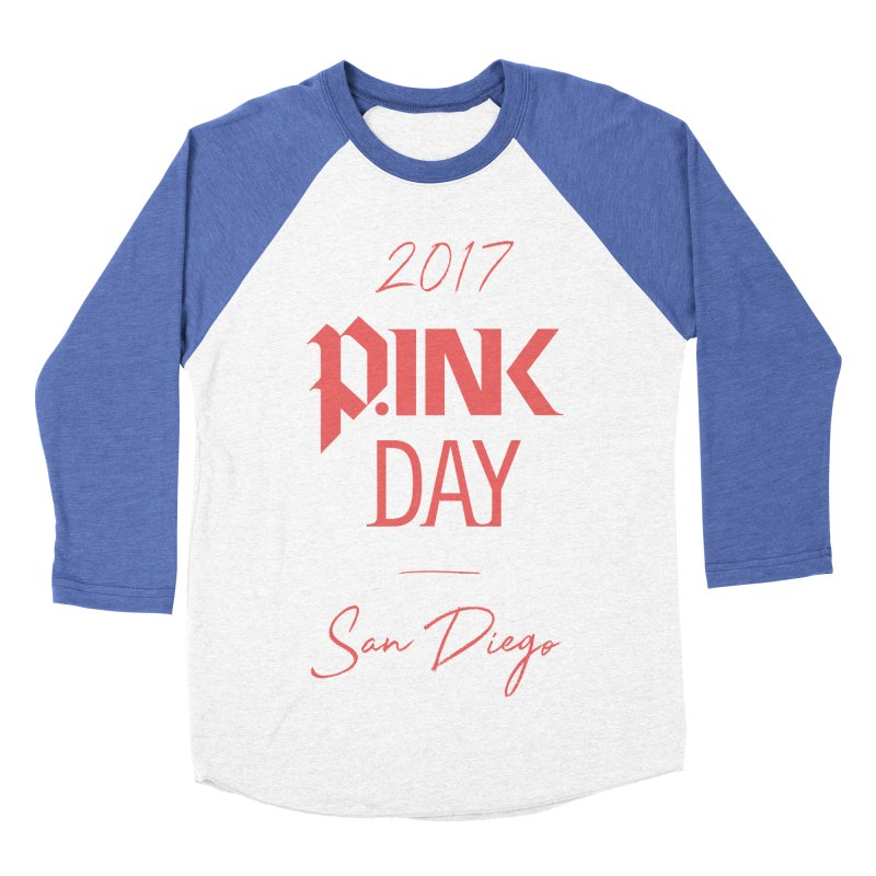 2017 P.ink Day San Diego Men's Baseball Triblend T-Shirt by P.INK—don't let breast cancer leave the last mark