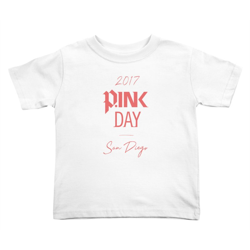 2017 P.ink Day San Diego Kids Toddler T-Shirt by P.INK—don't let breast cancer leave the last mark