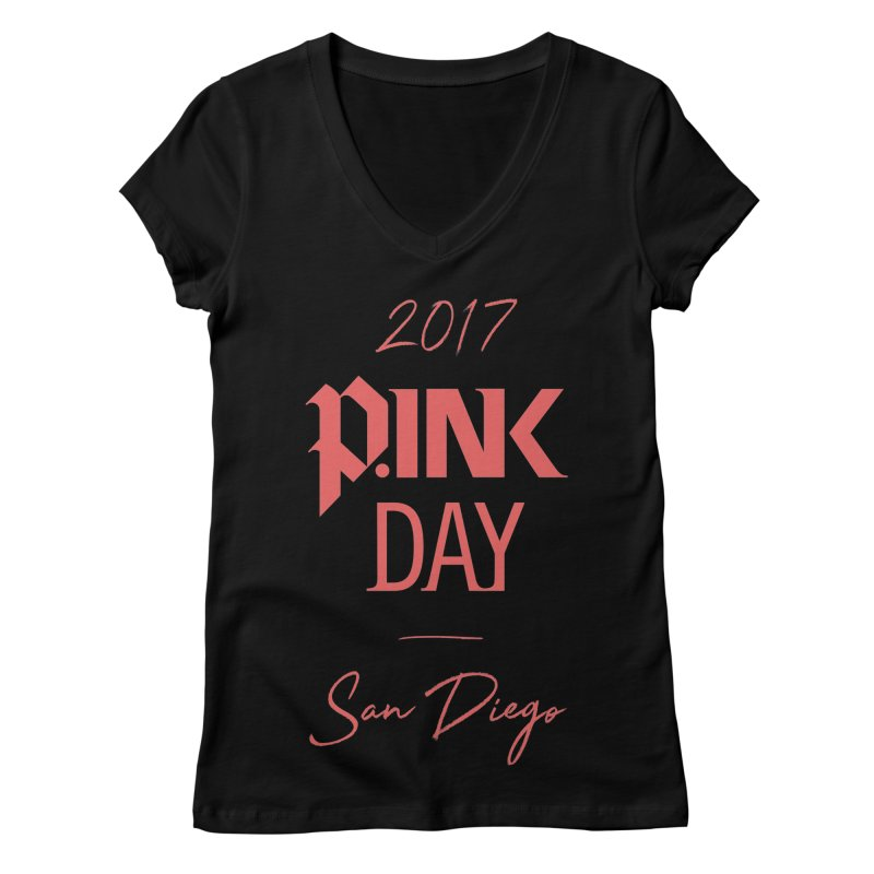 2017 P.ink Day San Diego Women's V-Neck by P.INK—don't let breast cancer leave the last mark