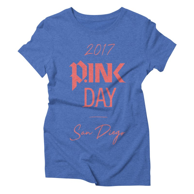 2017 P.ink Day San Diego Women's Triblend T-shirt by P.INK—don't let breast cancer leave the last mark