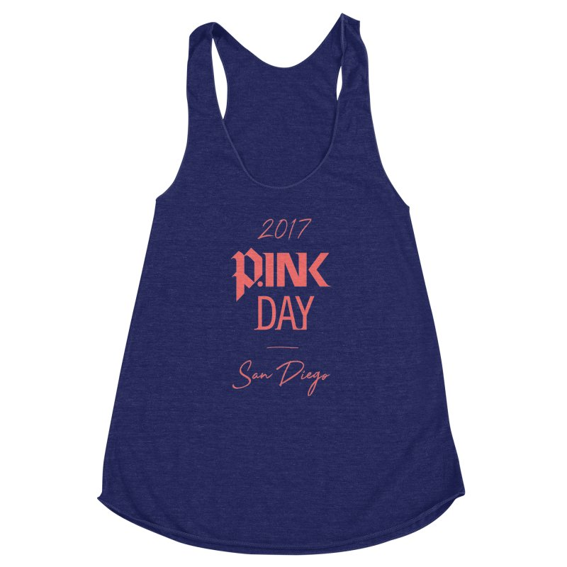 2017 P.ink Day San Diego Women's Racerback Triblend Tank by P.INK—don't let breast cancer leave the last mark