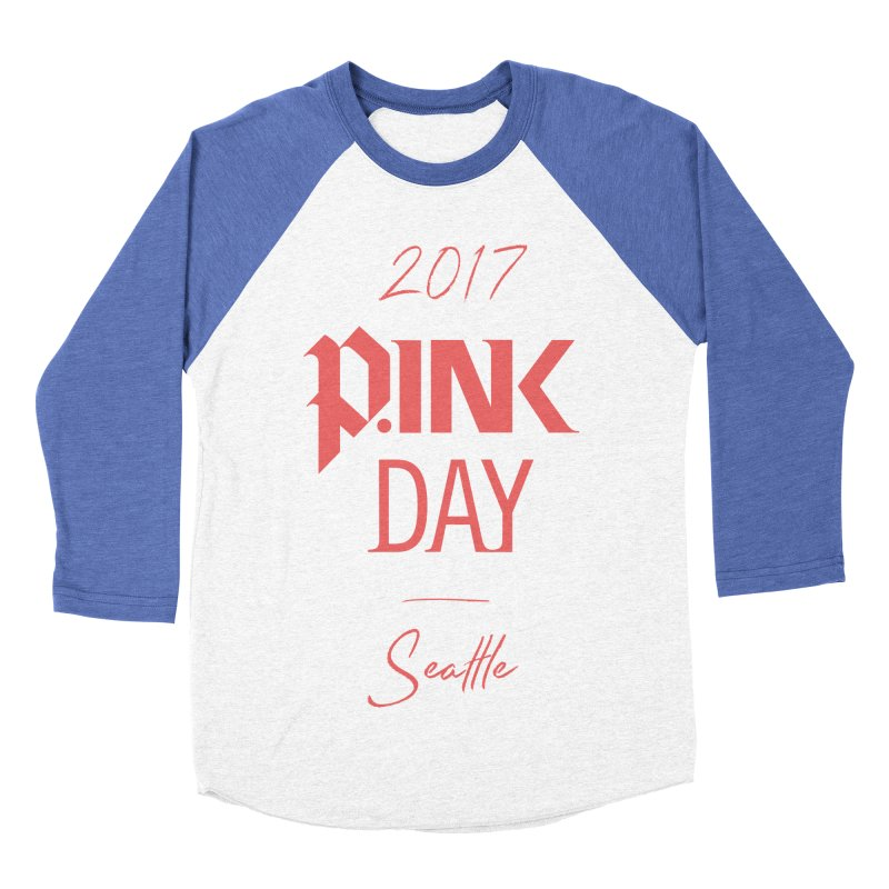 2017 P.ink Day Seattle Women's Baseball Triblend Longsleeve T-Shirt by P.INK—don't let breast cancer leave the last mark