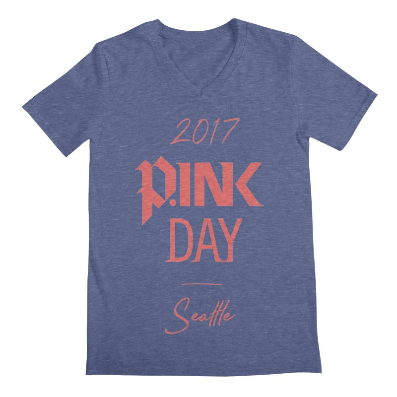 2017 P.ink Day Seattle Men's V-Neck by P.INK—don't let breast cancer leave the last mark