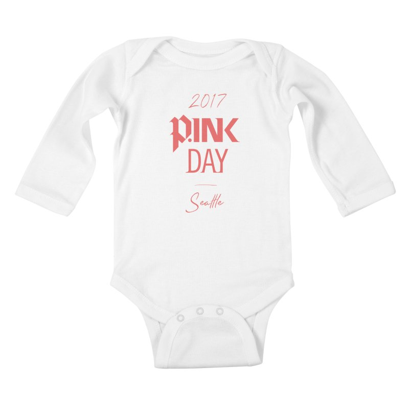 2017 P.ink Day Seattle Kids Baby Longsleeve Bodysuit by P.INK—don't let breast cancer leave the last mark