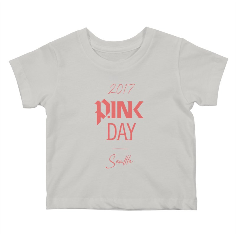 2017 P.ink Day Seattle Kids Baby T-Shirt by P.INK—don't let breast cancer leave the last mark