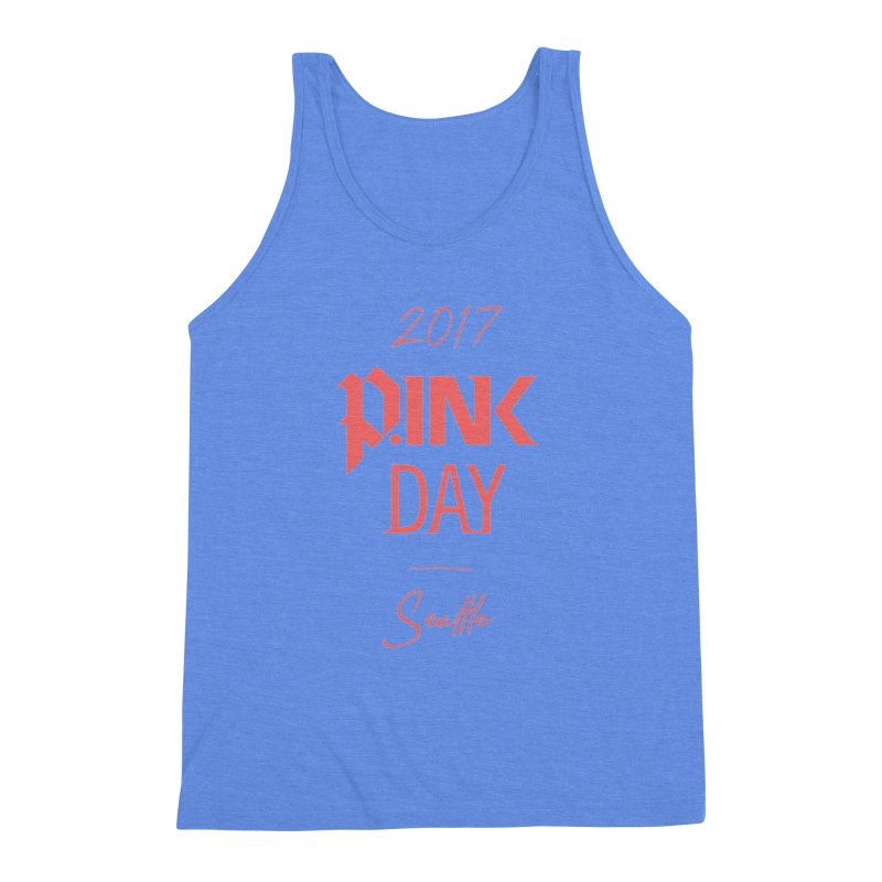 2017 P.ink Day Seattle Men's Triblend Tank by P.INK—don't let breast cancer leave the last mark