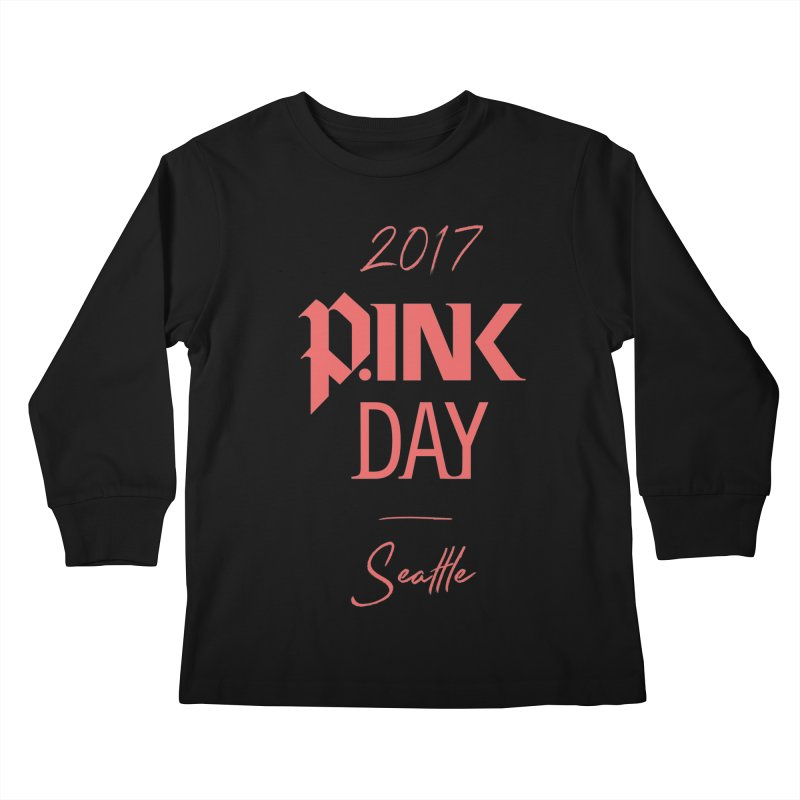 2017 P.ink Day Seattle Kids Longsleeve T-Shirt by P.INK—don't let breast cancer leave the last mark