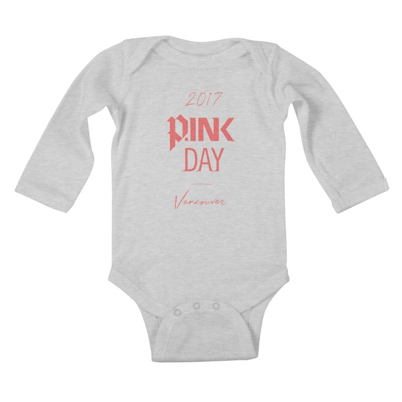 2017 P.ink Day Vancouver Island Kids Baby Longsleeve Bodysuit by P.INK—don't let breast cancer leave the last mark