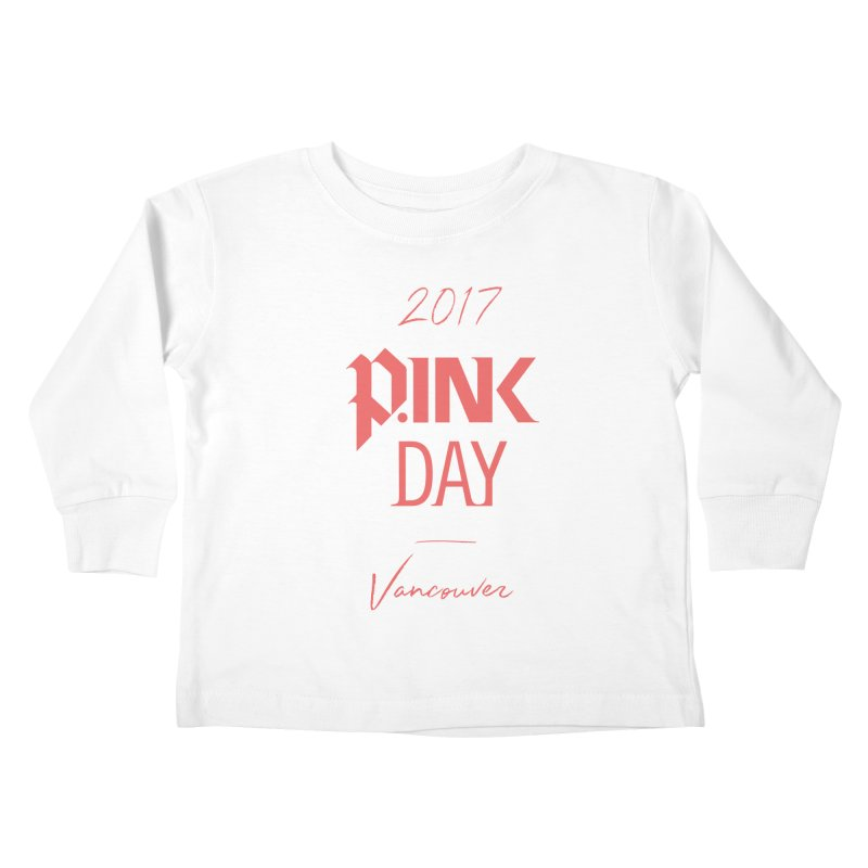 2017 P.ink Day Vancouver Island Kids Toddler Longsleeve T-Shirt by P.INK—don't let breast cancer leave the last mark